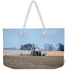 Corn Planting Weekender Tote Bag by Bonfire Photography