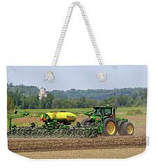 Corn Planting Fremont County Iowa Weekender Tote Bag