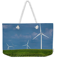 Corn Rows And Windmills Weekender Tote Bag