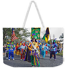 Corner Club 3 -mardi Gras New Orleans Weekender Tote Bag