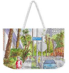 Corner Of Hawthorn And Formosa In Hollywood, California Weekender Tote Bag