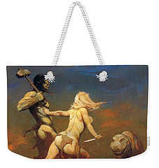 Cornered Weekender Tote Bag by Frank Frazetta