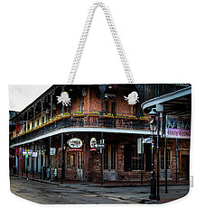 Weekender Tote Bag featuring the photograph Cornet On Bourbon Street by Chrystal Mimbs
