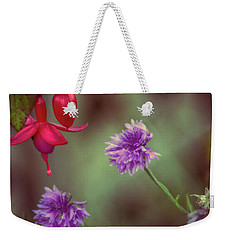 Cornflowers And Fuschia Weekender Tote Bag