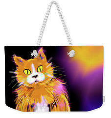 Cornmuffin Dizzycat Weekender Tote Bag by DC Langer