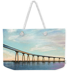 Coronado Bridge Sunset A Weekender Tote Bag
