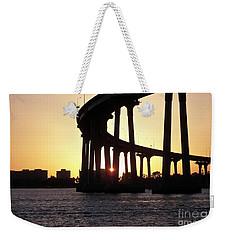 Coronado Bridge Sunset Weekender Tote Bag by Carol  Bradley