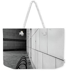 Weekender Tote Bag featuring the photograph Corridor In Black And White by Bruce Carpenter