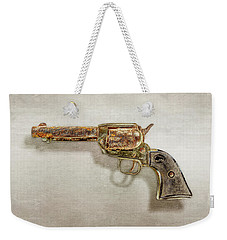 Weekender Tote Bag featuring the photograph Corroded Peacemaker by YoPedro