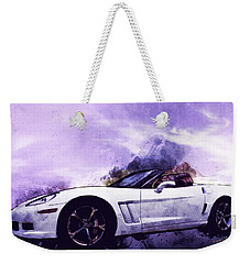Corvette Convertible Pen And Watercolor Weekender Tote Bag