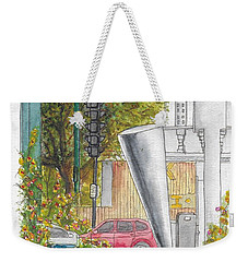 Cosimo Pizzuli Sculpture In Wilshire Blvd. And Robertson, Beverly Hills, California Weekender Tote Bag
