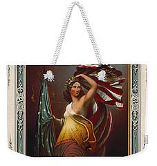 Cosmetics Ad 1866 Weekender Tote Bag by Padre Art