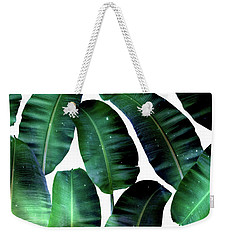 Cosmic Banana Leaves Weekender Tote Bag by Uma Gokhale