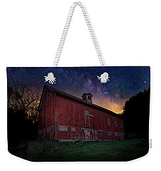 Weekender Tote Bag featuring the photograph Cosmic Barn by Bill Wakeley