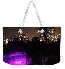 Weekender Tote Bag featuring the photograph Cosmic Beetle Impressions by Carolina Liechtenstein
