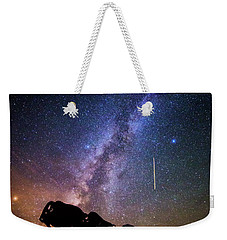 Weekender Tote Bag featuring the photograph Cosmic Caprock by Stephen Stookey