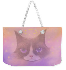 Cosmic Cat Weekender Tote Bag