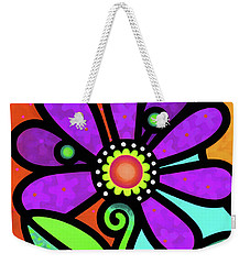 Cosmic Daisy In Purple Weekender Tote Bag