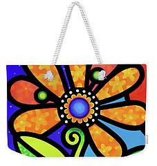 Cosmic Daisy In Yellow Weekender Tote Bag