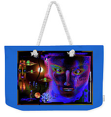 Weekender Tote Bag featuring the painting Cosmic  Dream by Hartmut Jager