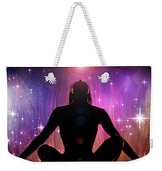 Weekender Tote Bag featuring the photograph Cosmic Enlightenment... by Nina Stavlund