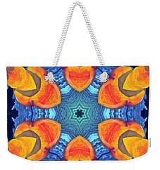 Weekender Tote Bag featuring the painting Cosmic Fluid by Derek Gedney