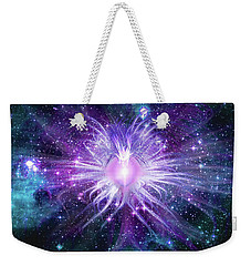 Weekender Tote Bag featuring the mixed media Cosmic Heart Of The Universe Mosaic by Shawn Dall