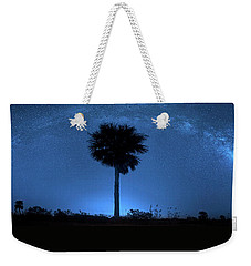 Weekender Tote Bag featuring the photograph Cosmic Night by Mark Andrew Thomas