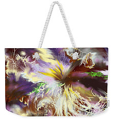 Weekender Tote Bag featuring the digital art The Flowering Of The Cosmos by Amyla Silverflame