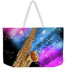 Cosmic Sax Weekender Tote Bag