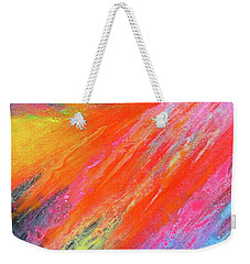 Cosmic Soiree De Colores - Abstract Painting Weekender Tote Bag