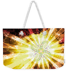Cosmic Solar Flower Fern Flare 2 Weekender Tote Bag by Shawn Dall