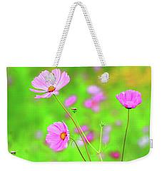 Cosmos Blooming In A Meadow Weekender Tote Bag