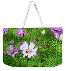 Weekender Tote Bag featuring the photograph Cosmos Capriola by Tim Gainey