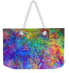 Weekender Tote Bag featuring the painting Cosmos by Claire Bull