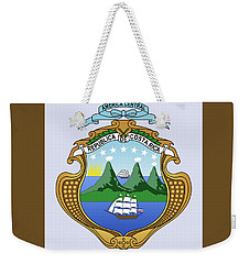 Weekender Tote Bag featuring the drawing Costa Rica Coat Of Arms by Movie Poster Prints
