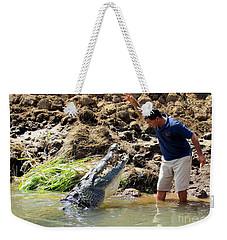 Costa Rica Crocodile 4 Weekender Tote Bag by Randall Weidner