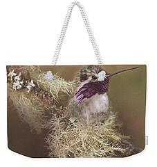 Costas Hummingbird Painted Weekender Tote Bag