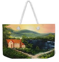 Cottage By Lake Weekender Tote Bag