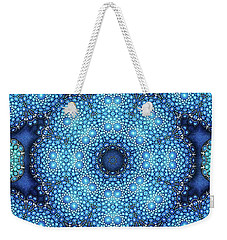 Weekender Tote Bag featuring the drawing Cote D'azur by Mo T