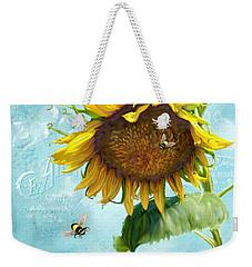 Cottage Garden Sunflower - Everlastings Seeds N Flowers Weekender Tote Bag