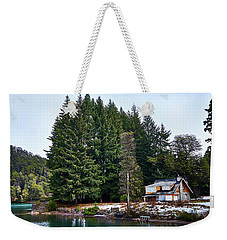 Little Cottage In The Argentine Patagonia Weekender Tote Bag
