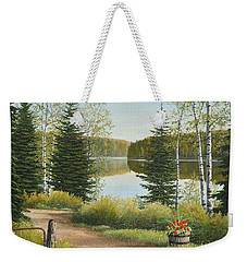 Cottage Lane Weekender Tote Bag