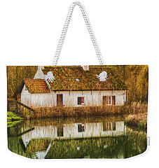 Cottage Reflection Weekender Tote Bag by Wim Lanclus
