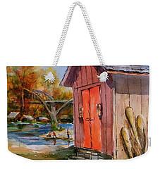 Cotter Shed Weekender Tote Bag