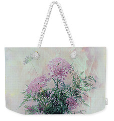 Weekender Tote Bag featuring the photograph Cotton Candy Dreams by Linda Lees