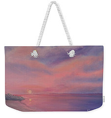 Cotton Candy Sky Weekender Tote Bag by Holly Martinson