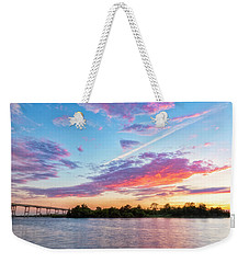 Cotton Candy Sunset Weekender Tote Bag