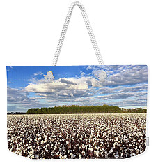 Cotton Field Weekender Tote Bag