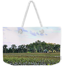 Weekender Tote Bag featuring the photograph Cotton Field In Georgia by Jan Amiss Photography